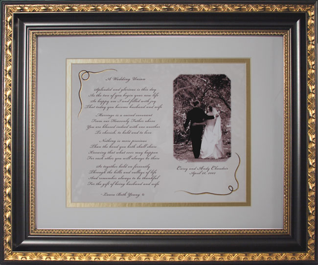 Personalized Framed Wedding Gift